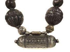 Yemeni Necklace Silver Bead HUGE African