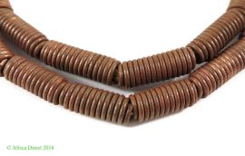 Copper Coiled Trade Beads Ethiopian African