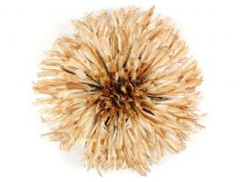 Headdress Juju Feather Bamileke Cameroon Small African Art Light Brown