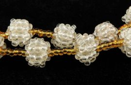Beads in Beads Necklace Seed Beads 29 Inch