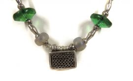 Ethiopian Necklace Silver Beads Africa