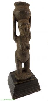 Luba Miniature Female Bowl Bearer Congo African Art