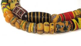 Venetian Trade Beads Mixed Strand Africa 26 Inch