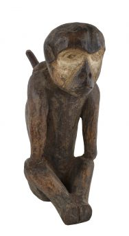 Fang Sitting Reliquary Figure Monkey Pipe Gabon African Art
