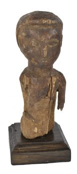 Makonde Wood Carving on Stand African Art