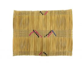 E PRICE  Zulu Placemat or Eating Mat Izithebe Woven Embroidery Africa