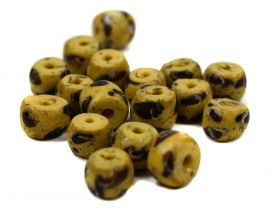 12 Venetian Trade Beads Yellow Matched Loose Africa