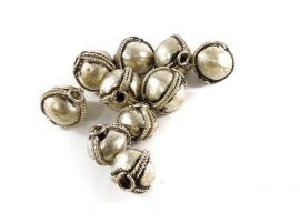 10 Ethiopian Silver Beads Africa Loose