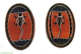 JARED PRICE? - 2 Stone Plates Oval Lizards Kisii Kenya African Miniature