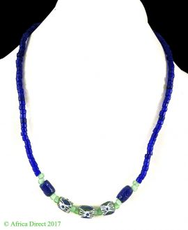 Necklace African Trade Beads Handmade