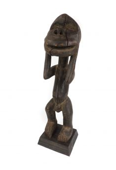 Hemba Standing Male Congo African Art On Base
