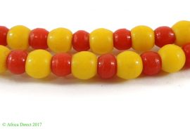 Red and Yellow Pony Trade Beads Africa