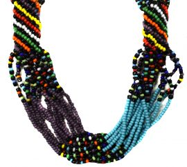 Tibetan Necklace Mixed Beads Chank Shell 39 Inch