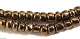 2 Strands Vintage Seed Trade Beads Gold Africa