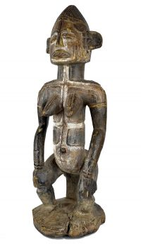 Igbo Shrine Figure Seated Alusi Stand Nigeria African Art
