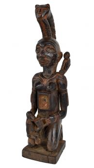 Vili Yombe Mother And Child Miniature Congo African Art