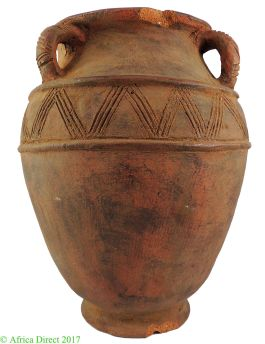 E-PRICE? Nupe Igbo Clay Terracotta Pot Water Container African 24 inches