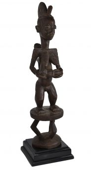 E-PRICE? Afo Standing Female Maternity Figure Nigeria African Art Collection
