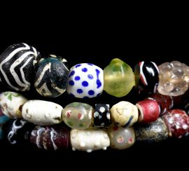 Venetian Trade Beads Raised Dots RARE Fancies Africa COOPER COLLECTION