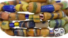 Pig-in-a-Poke Mixed Trade Beads Strand Africa