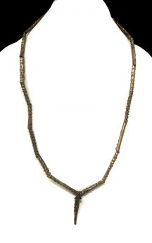 Yoruba Necklace Brass Braided Chain Africa