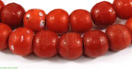 Prosser Trade Beads Red Molded African