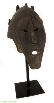 PRICE? Bamana or Marka Janus Mask on Custom Base Mali African Art