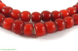 Whitehearts Venetian Two Layer Red Trade Beads New African