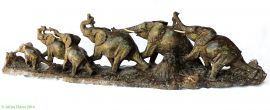 E PRICE? Shona Stone Elephant Herd of 8 Sculpture Zimbabwe African Art