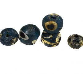 """5 Ancient Beads Islamic """"Roman Eyes"""" African Loose COOPER COLLECTION"""