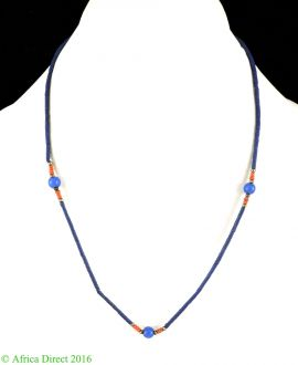 Lapis Necklace Stone Beads Afghanistan 18 Inch