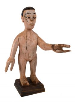 Ewe Wooden Doll Colonial Male Figure Togo African Art