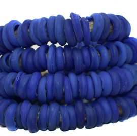 Italian Trade Beads Blue Glass Rings Africa 42 Inch