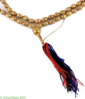 Ethiopian Prayer Beads Copper Color with Tassel Africa