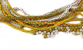 Seed Trade Beads Grab Bag Mixed Striped African