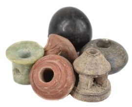 6 Ancient Trade Beads African Loose