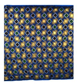 EPRICE***Nigerian Printed Cotton Fabric Blue African 420 Inch