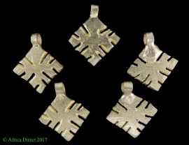 5 Ethiopian Coptic Cross Pendants Tiny  African