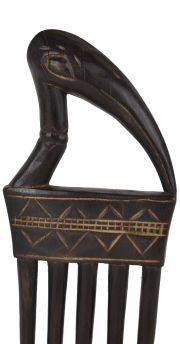Senufo Figural Comb With Stand Cote D'Ivoire African Art