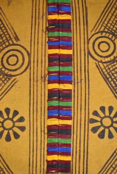 Adinkra Stamped Cloth Asante Ghana Large African Art