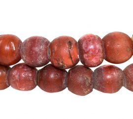 Cornaline d'Aleppo Venetian Trade Beads Old Red 28 Inch