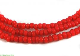 Venetian Trade Beads Red Whitehearts Old African