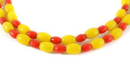 Prossers Trade Beads Red and Yellow Africa