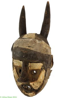 Grebo Protection Mask with Horns Liberia Africa