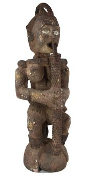 Ibibio Eket Seated Figure Headcrest Cross River Nigeria African Art Collection