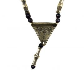 Tuareg Necklace with Silver Pendant Africa Old