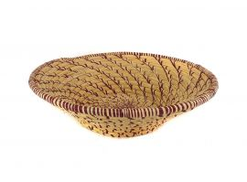 E-PRICE? Uganda Basket Bowl Open Weave Coiled African Art