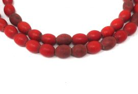 Tanzania Trade Beads Red Molded Africa