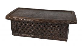 E-PRICE? Bamileke Bed Cameroon Wood Table African Art