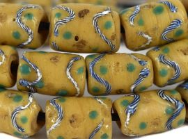 Venetian Trade Beads Yellow Africa Loose